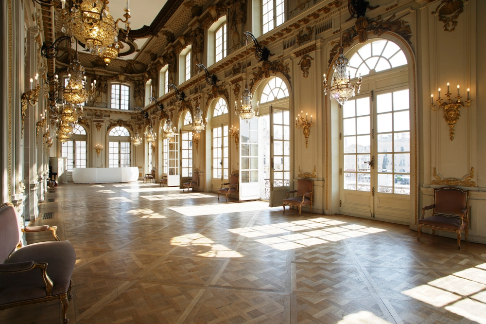 Opéra National de Lorraine, foyer, lustres,Nancy